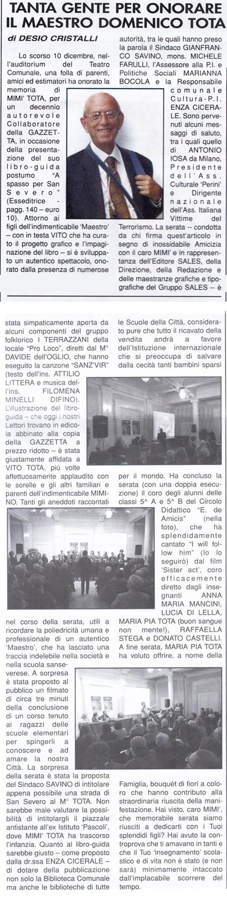 LA GAZZETTA DI SAN SEVERO 16 12 2011